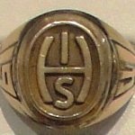 MHS class ring with Hershey Industrial School logo