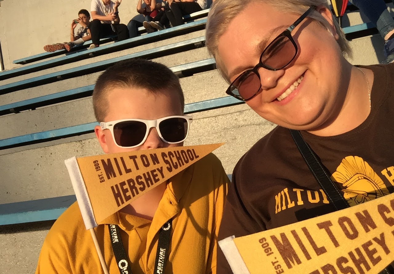 James, an MHS fifth-grader, and his mother