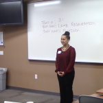 Milton Hershey School junior Florinda Good-Gonzales recently won the second annual Husky Dog Pound business competition at Bloomsburg University