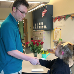 As Milton Hershey School senior Asa Heirendt prepares to graduate, he recently shared his experience in the deaf culture with Ryann, an MHS fourth-grader who has hearing loss.