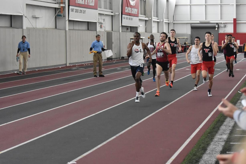 Austin Padmore '17 running indoor track