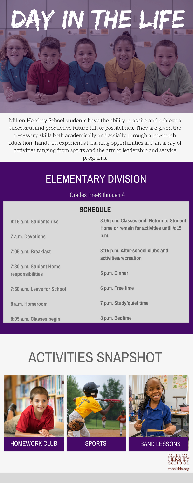 Elementary division schedule at MHS.