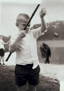 MHS student fishing during the summer