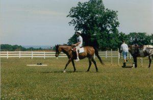 Student horseback riding