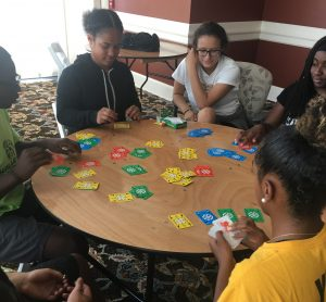 MHS students playing math games