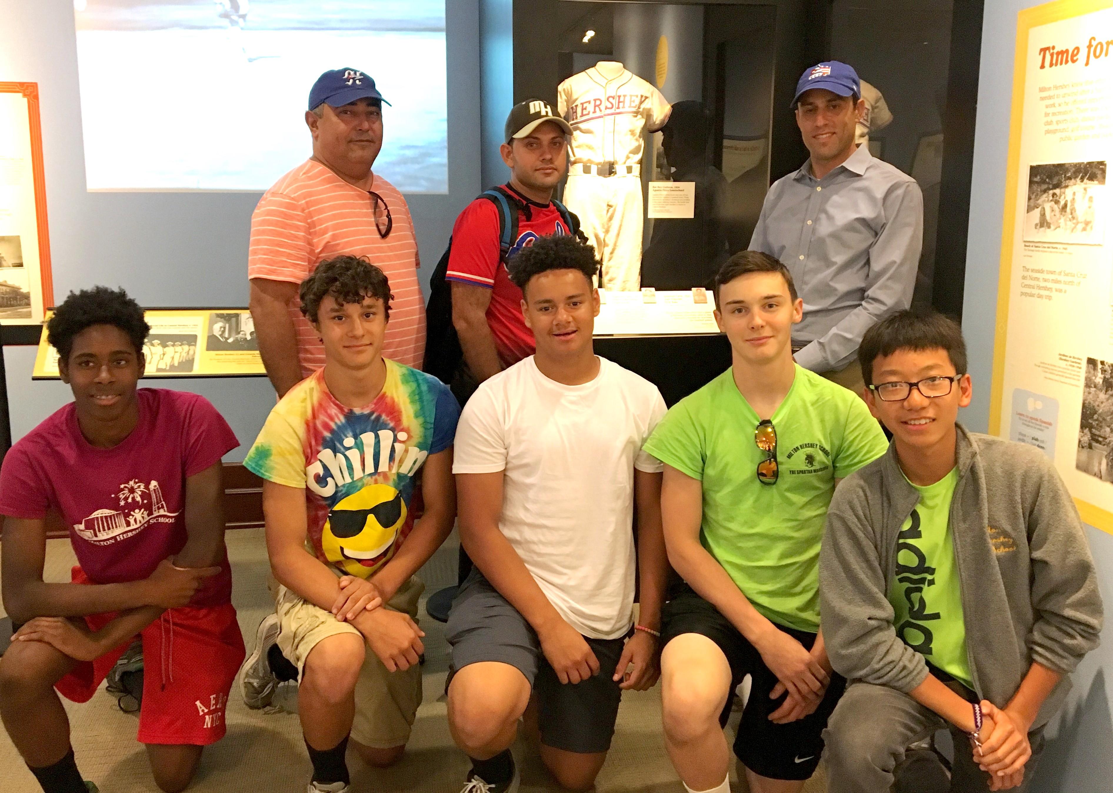 MHS baseball team visits an exhibit