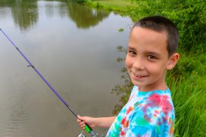 MHS student learns to fish