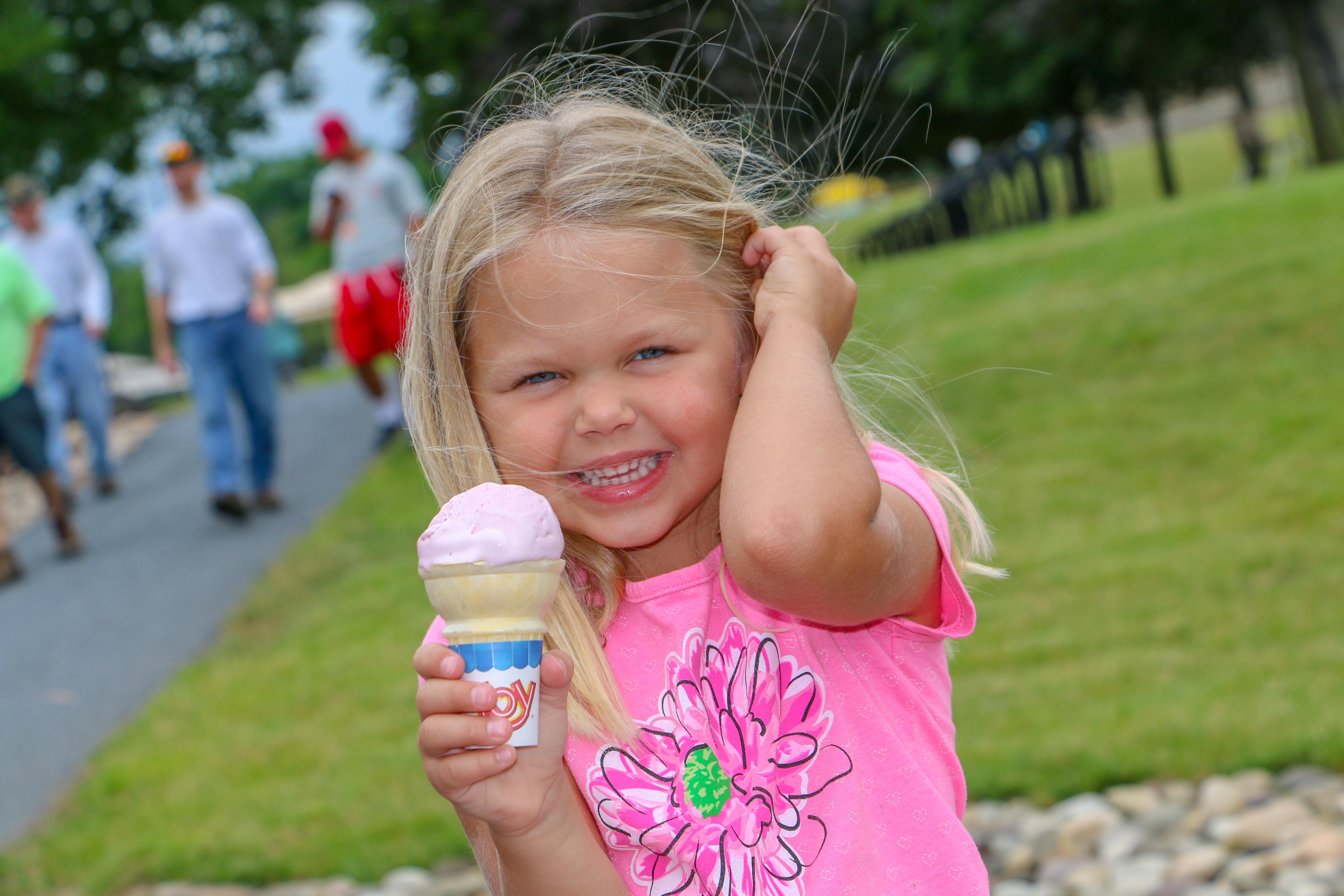 Enjoying ice cream at Spartan Ice Cream Center