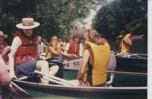MHS students canoeing in 1995