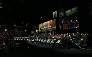 The stage at the 84th Commencement