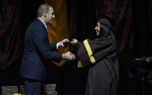 MHS senior receives her diploma