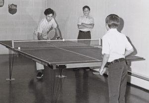 MHS students playing ping pong
