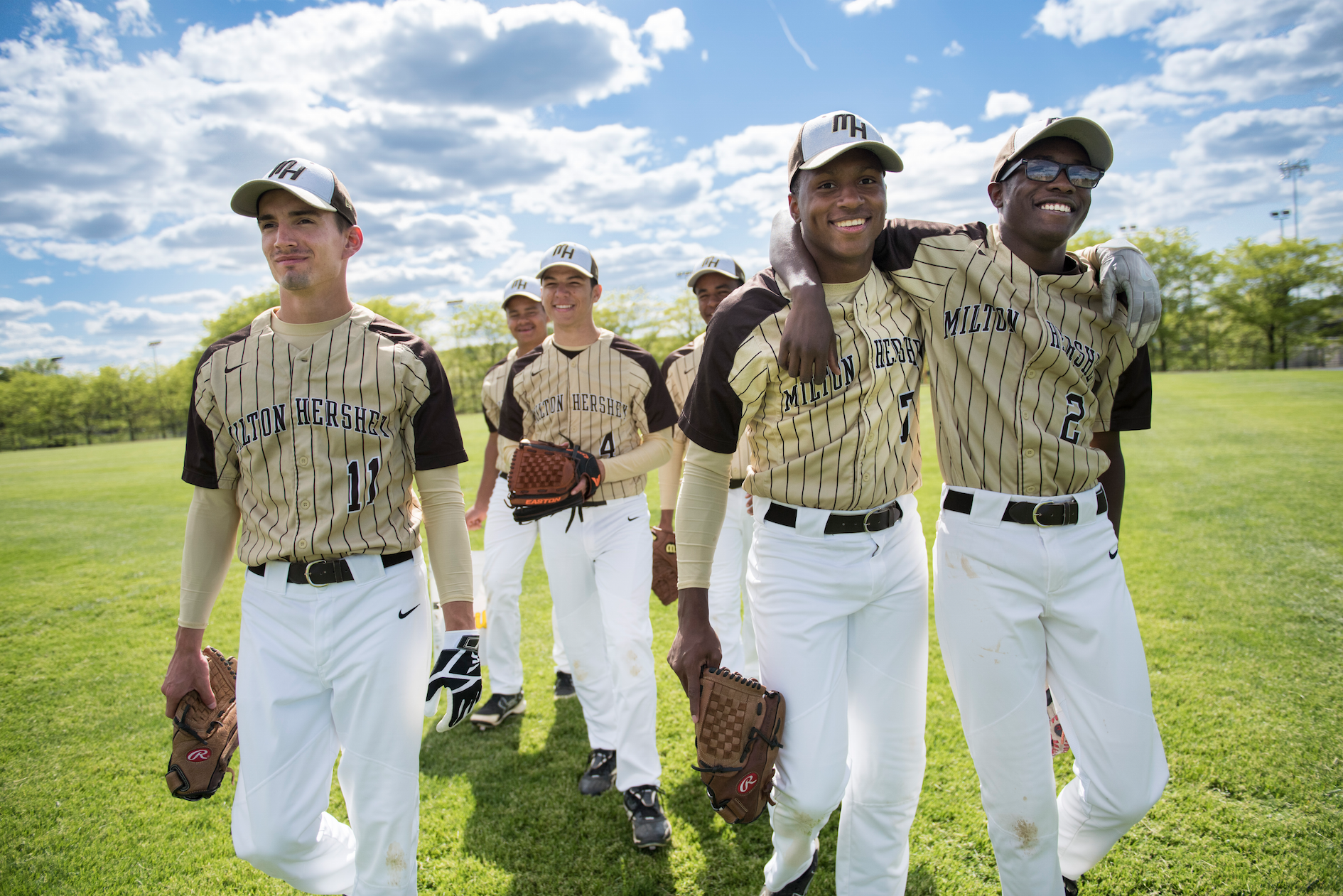 MHS baseball players
