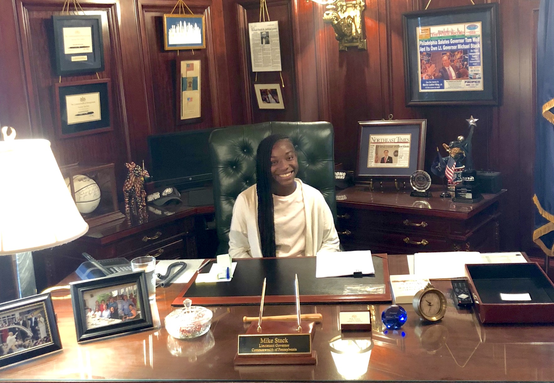 Cassidy at her internship at the PA Capitol