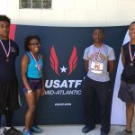 MHS students pose for a photo after qualifying for Junior Olympics