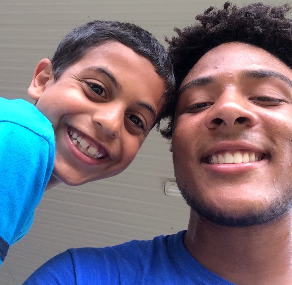 Shamar with a student he mentors