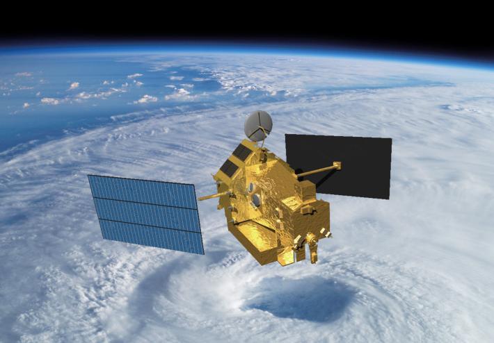TRMM over cyclone