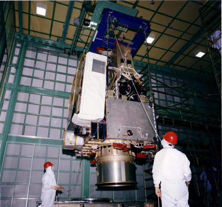 TRMM satellite assembly