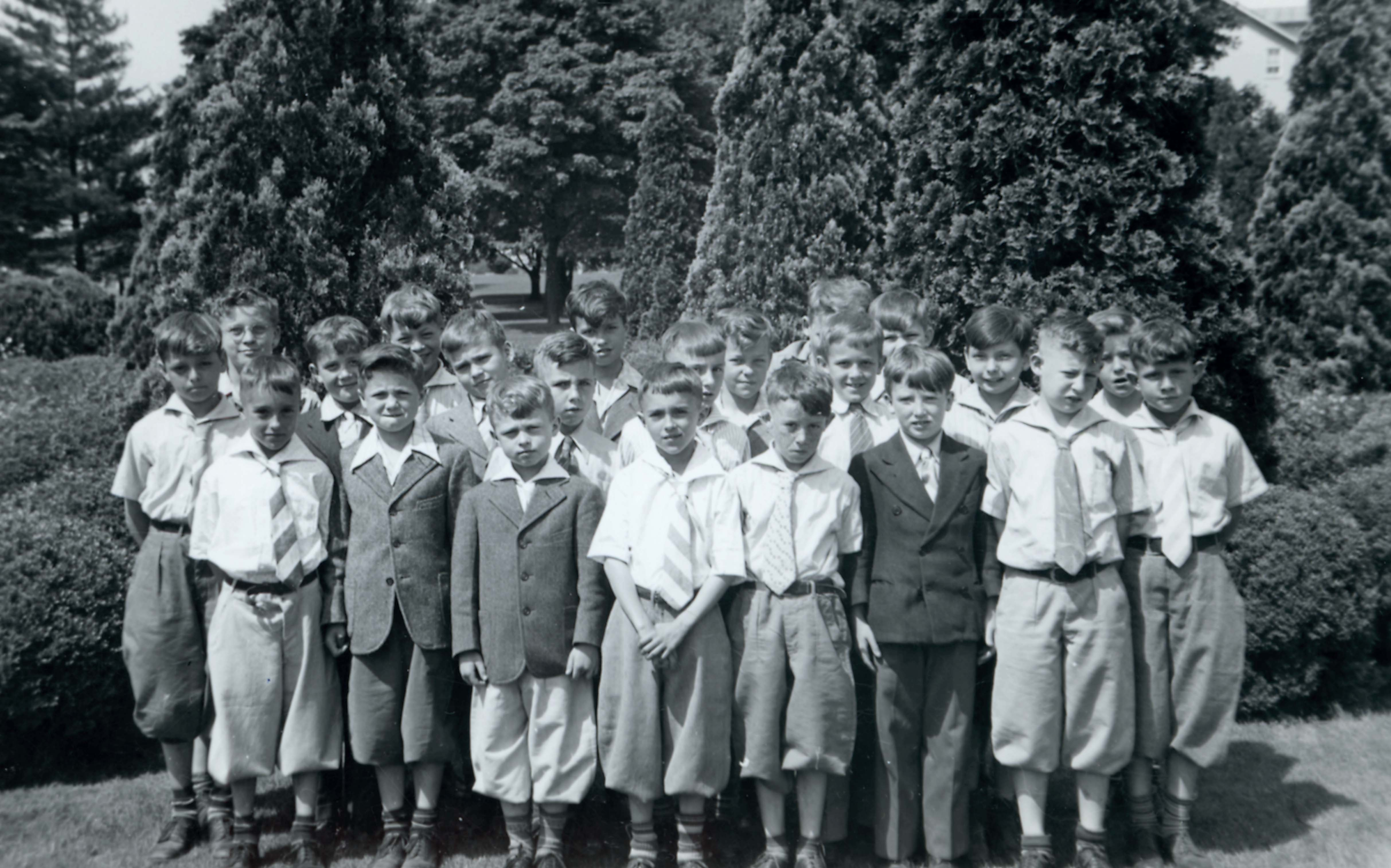 Fifth-graders during the 1940s