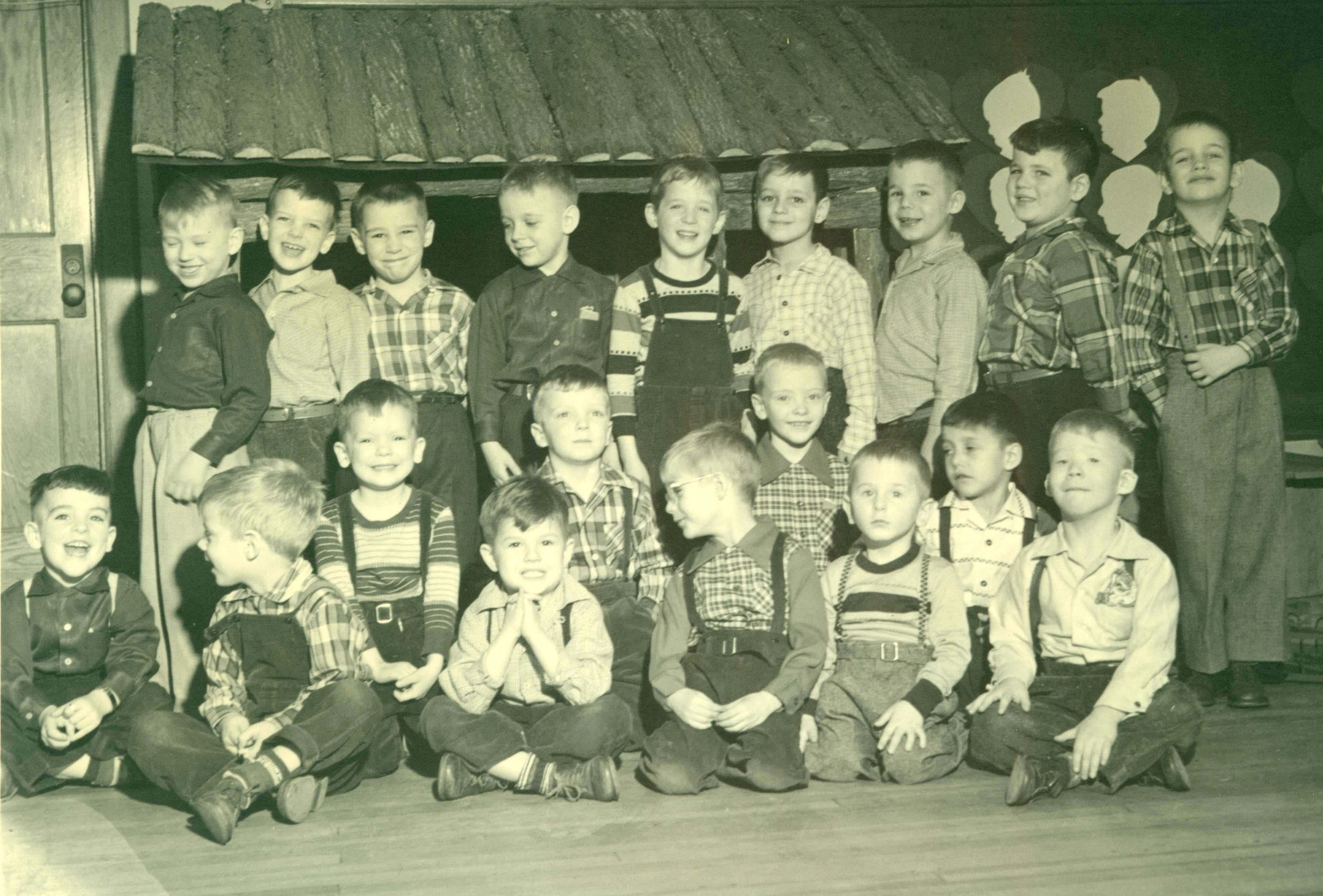 Kindergarten students in the 1950s