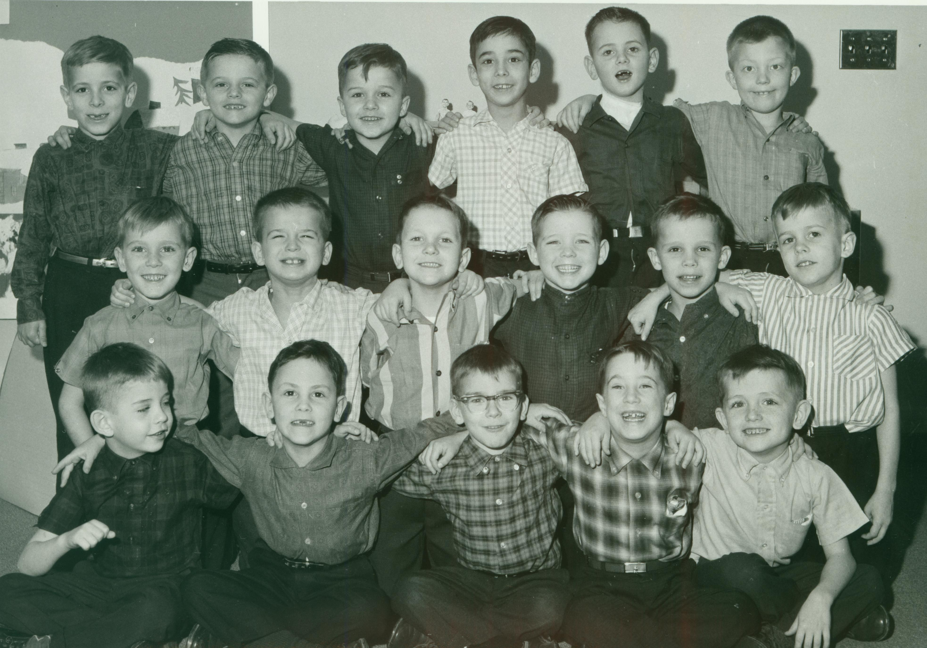 First-grade students in the 1960s