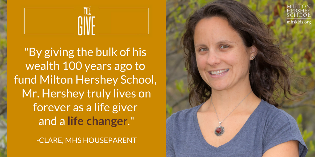 Quote from Clare, an MHS houseparent