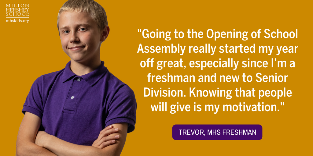 Quote from Trevor, an MHS freshman