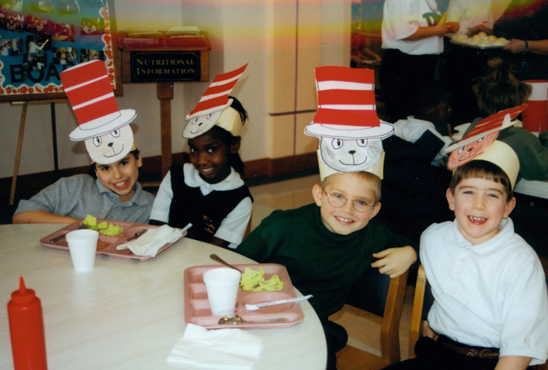 MHS elementary schoolers celebrating Dr. Seuss