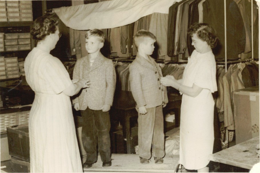 MHS clothing room during the 1940s
