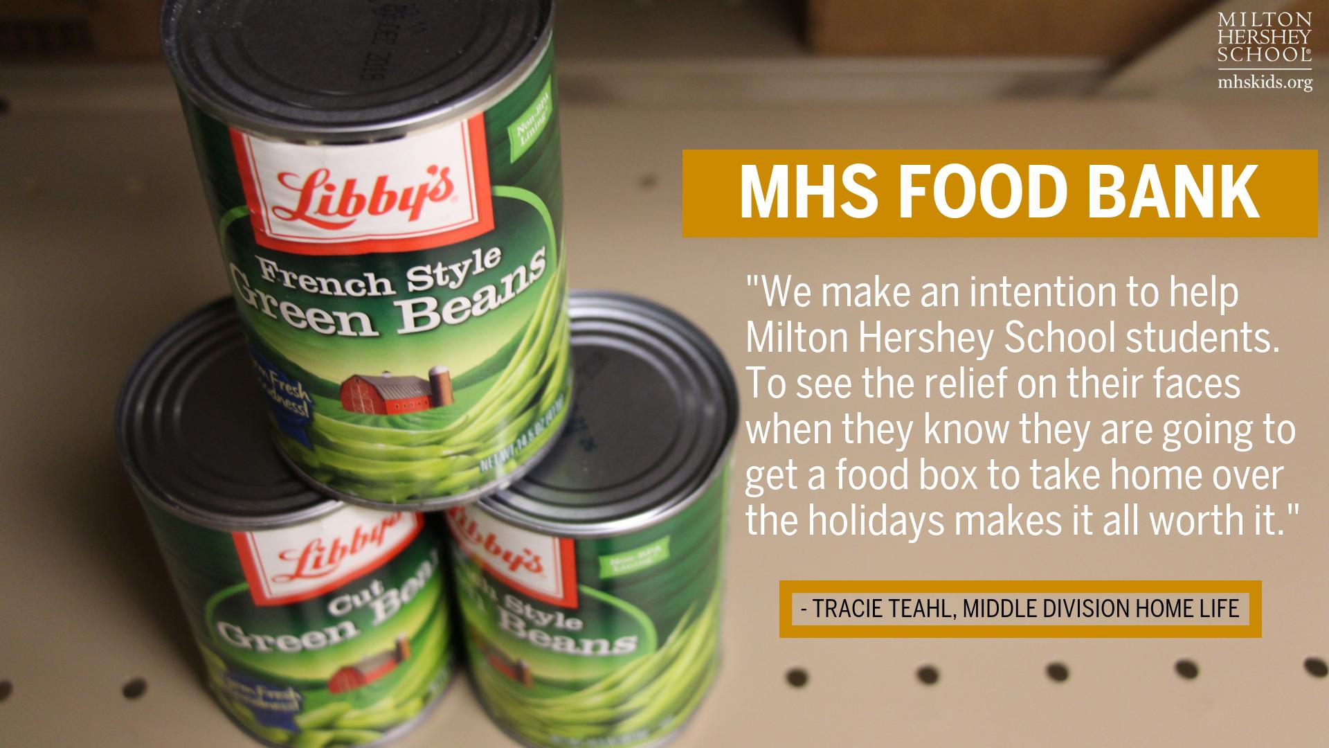 Food bank at MHS