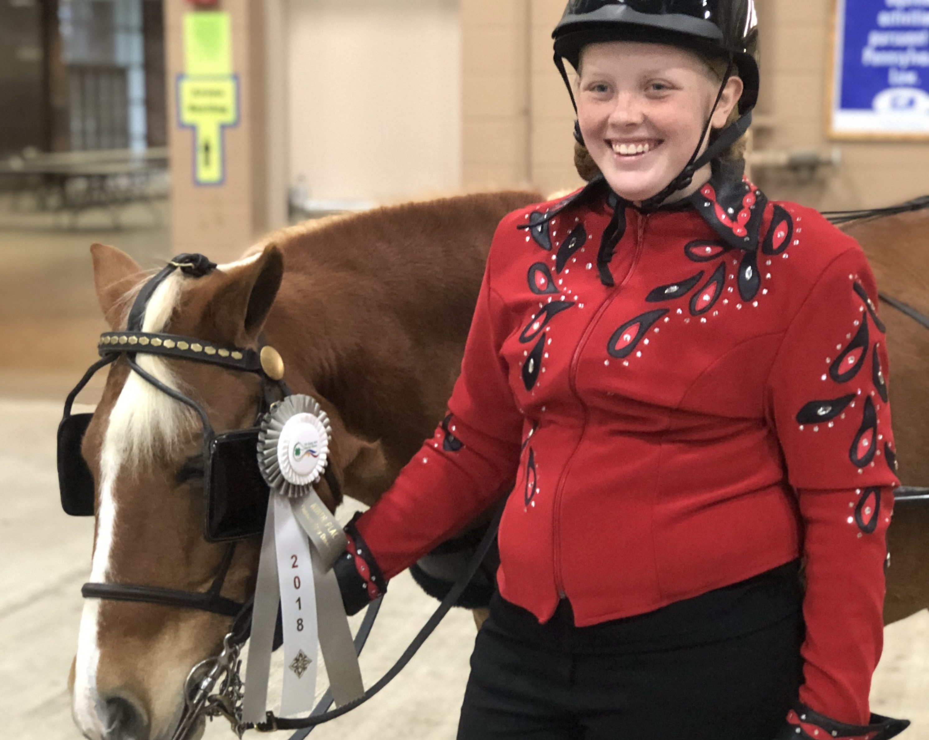 On Saturday, Oct. 27, Milton Hershey School sophomore Kloé Cunningham competed at the 2018 Pennsylvania State 4-H Horse Show