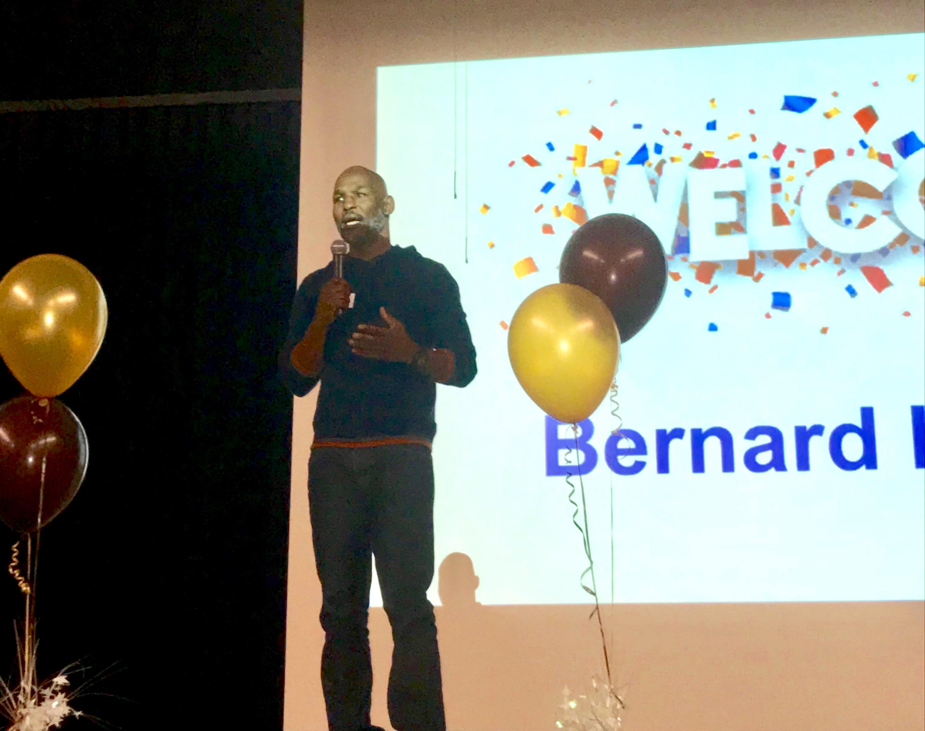 Bernard Hopkins, keynote speaker at MHS leadership conference