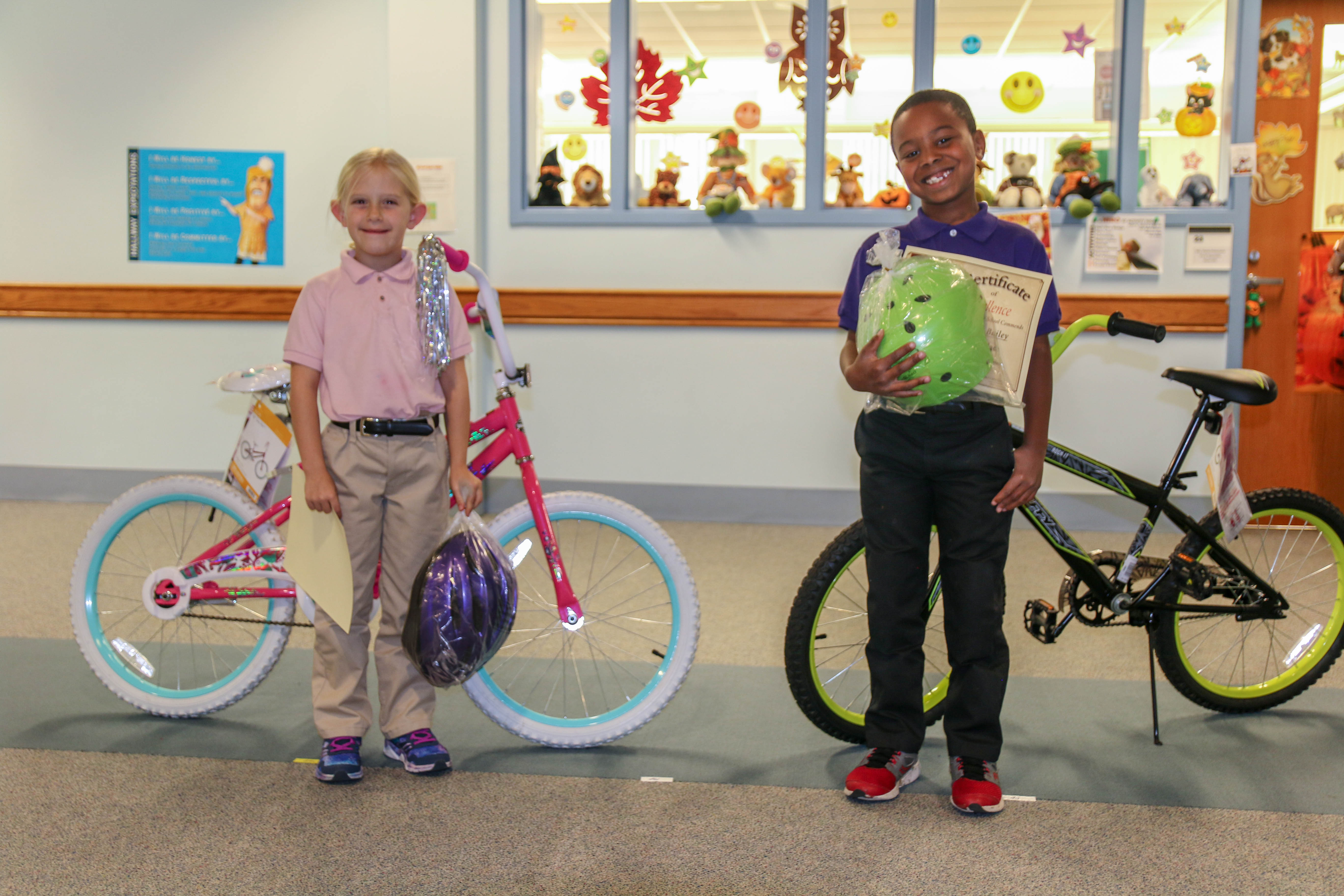 MHS students awarded bikes