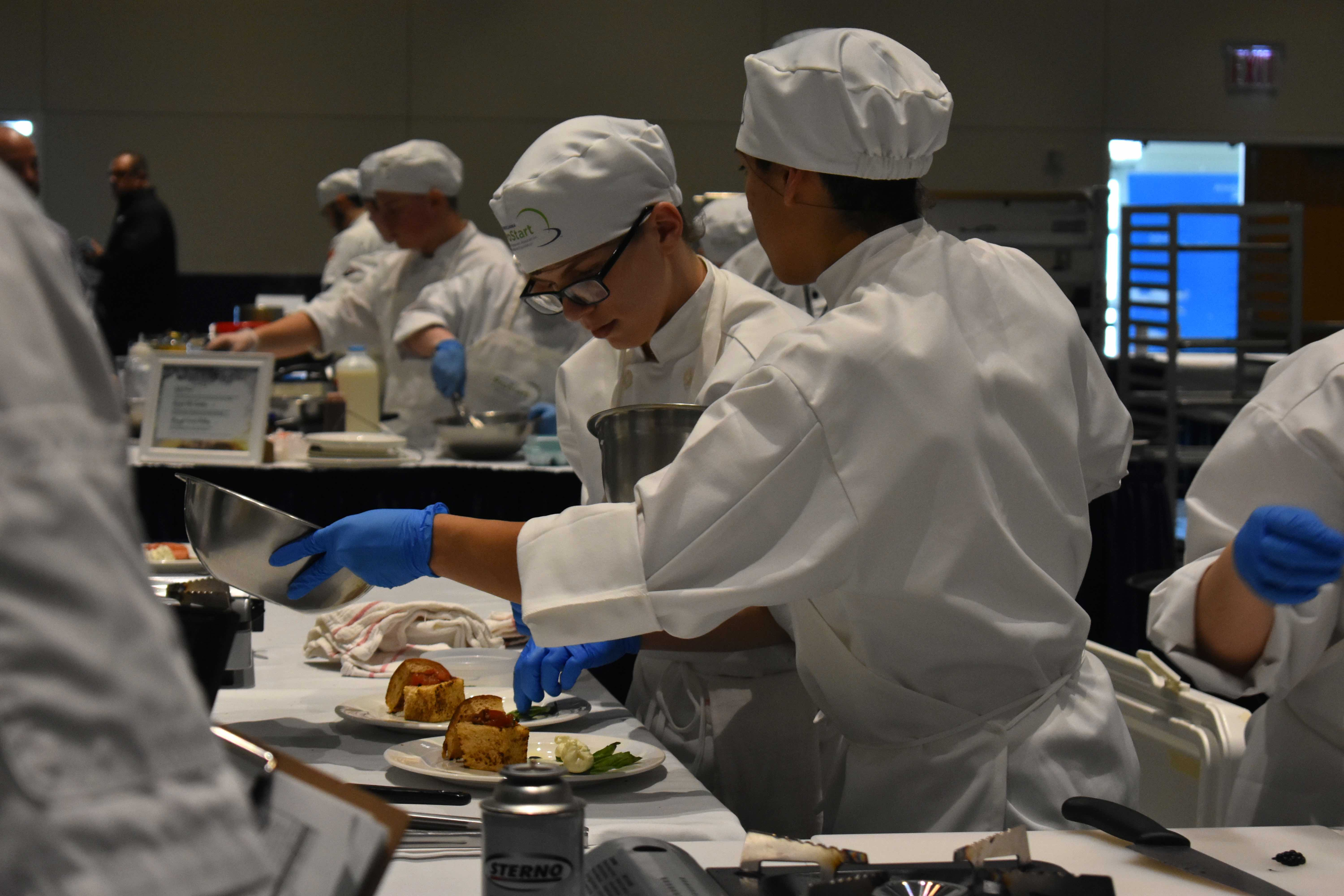 MHS students competing at ProStart