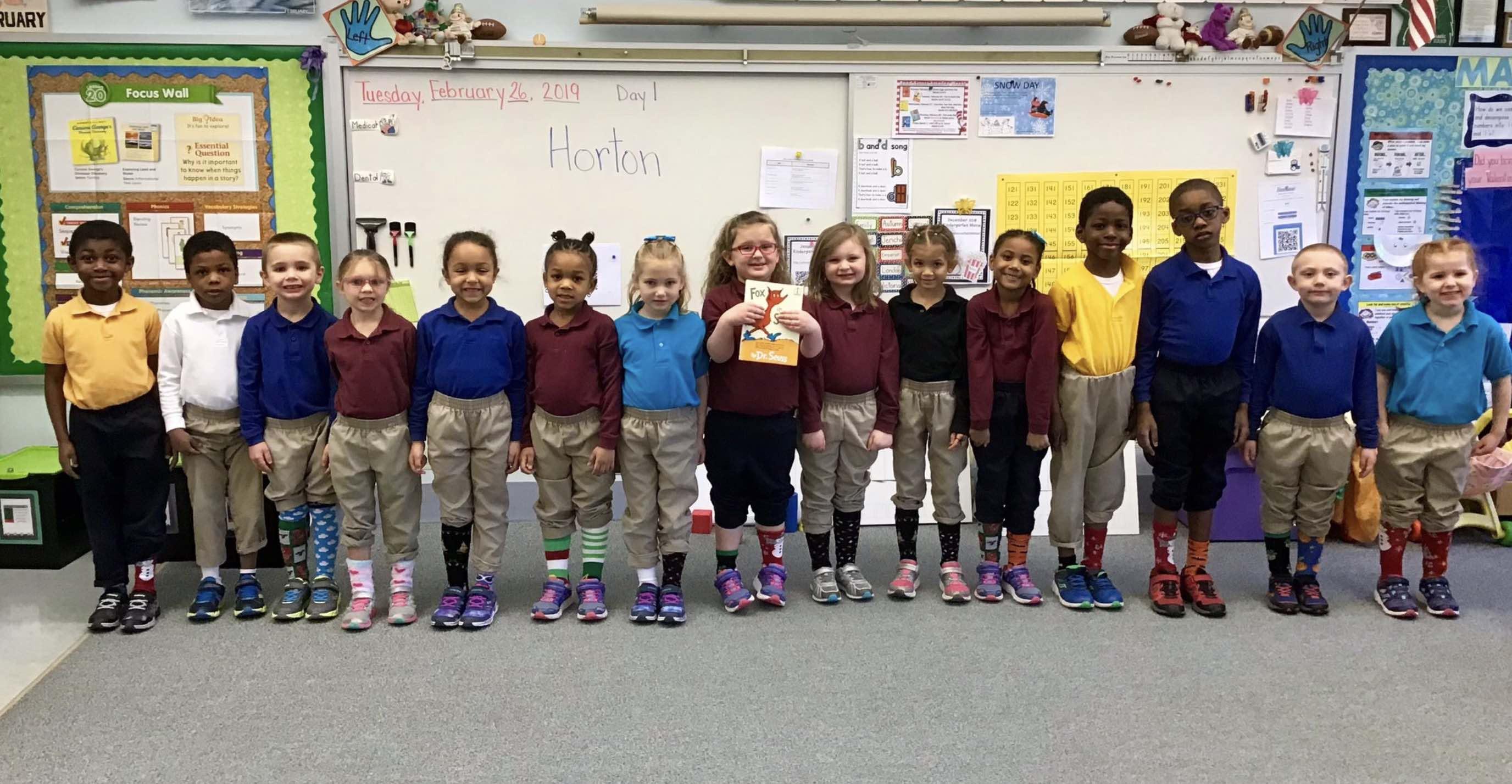 MHS elementary students during Read Across America Week