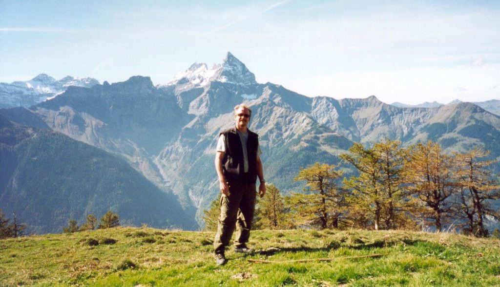 William Harding '78 hiking in Switzerland