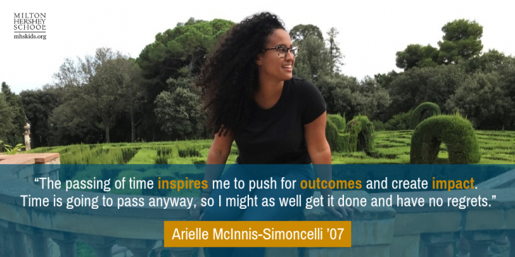 Arielle McInnis Simoncelli '07 in her own words.