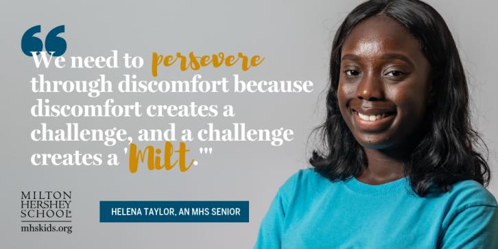 Helena Taylor, an MHS senior, talks about perseverance.