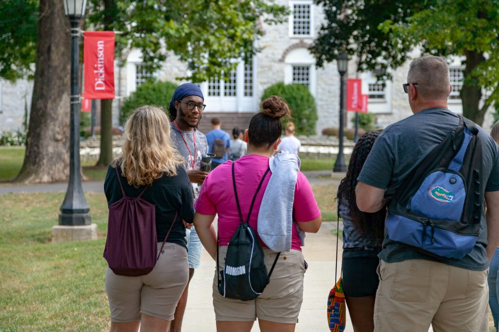 MHS students tour the campus of Dickinson College