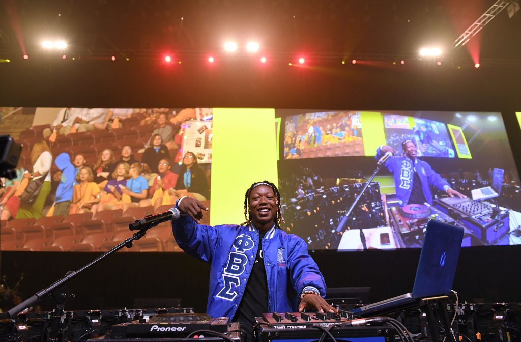 Chris Worsley performing as DJ Crank at the 2019 MHS Opening of School Assembly.