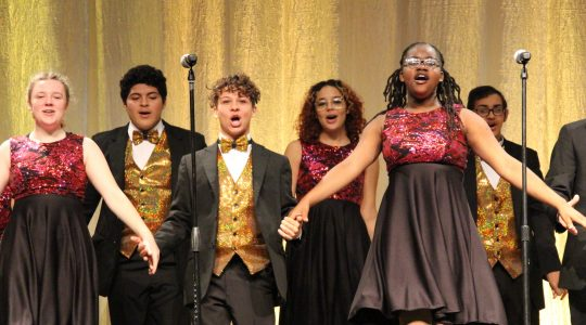 Milton Hershey School students in New Horizons perform during the 2019 Founders Week Assembly.