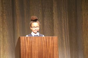 Milton Hershey School students spoke during the Founders Week Assembly.