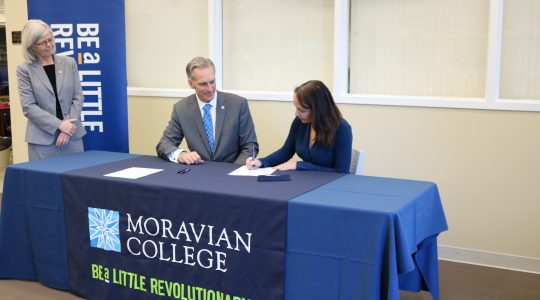 Milton Hershey School signs a MOU with Moravian College.