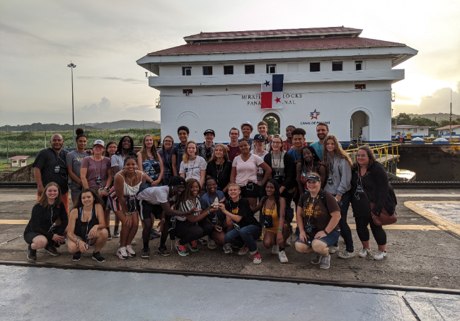 Milton Hershey School students and staff visited the Panama Canal during an international trip to Panama.