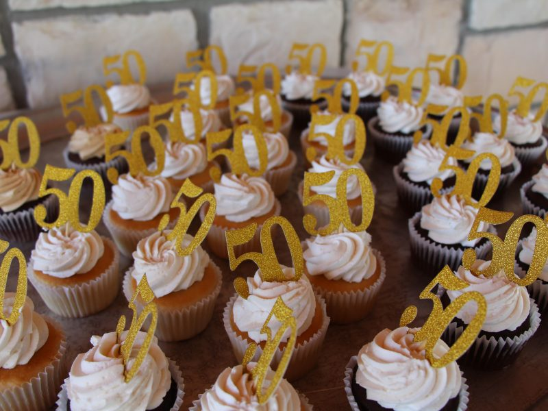 50 Years Cupcakes