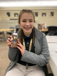 A Milton Hershey School student participates in the Hydration Challenge on campus—teaching students ways beyond drinking water to stay hydrated.